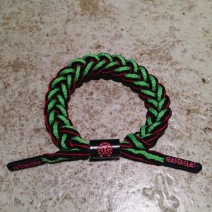 Rastaclat Bracelet Wristband Shoelace Green Red